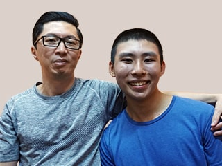 Mr Low Kwee Peng and Casper Cheng